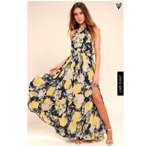 Lulu's gorgeous halter dress.